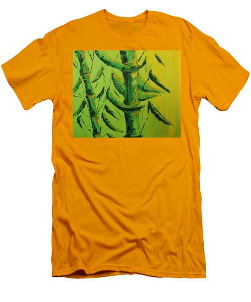 Lively Lime Bamboo Men's T-Shirt (Athletic Fit)
