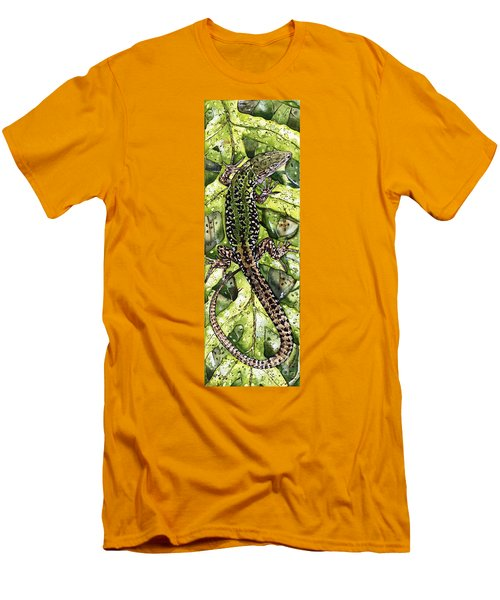 Lizard In Green Nature - Elena Yakubovich Men's T-Shirt (Athletic Fit)