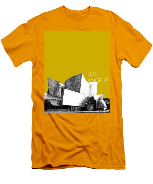 Los Angeles Skyline Disney Theater - Gold Men's T-Shirt (Athletic Fit)