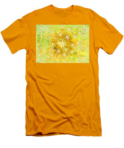 Make A Wish In Greenish Yellow Men's T-Shirt (Athletic Fit)