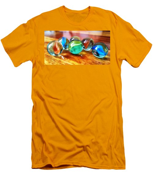 Marble Ducks Men's T-Shirt (Slim Fit) by Isabella F Abbie Shores FRSA