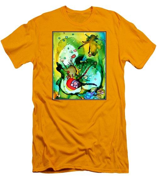 Marine Habitats Men's T-Shirt (Slim Fit) by Jolanta Anna Karolska