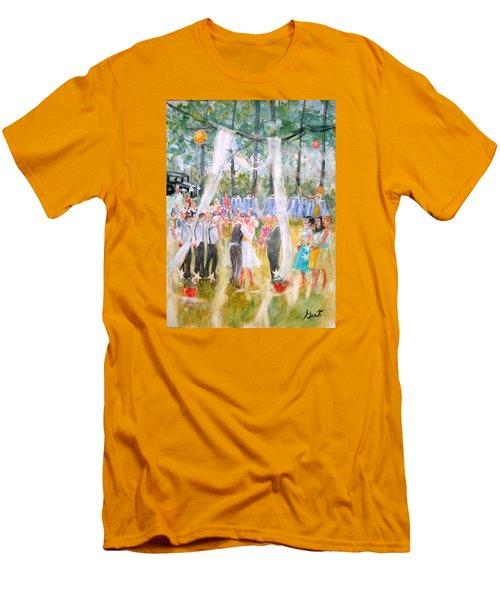 Mr. And Mrs. Matt Parker Men's T-Shirt (Slim Fit) by Gertrude Palmer