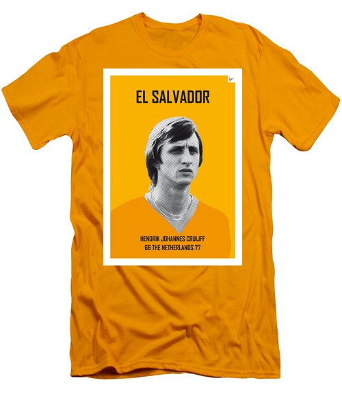 My Cruijff Soccer Legend Poster Men's T-Shirt (Slim Fit) by Chungkong Art