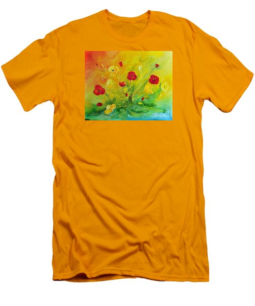 Men's T-Shirt (Slim Fit) featuring the painting My Favourite by Teresa Wegrzyn