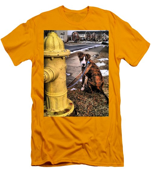 Men's T-Shirt (Slim Fit) featuring the photograph My Friend Plug by Robert McCubbin