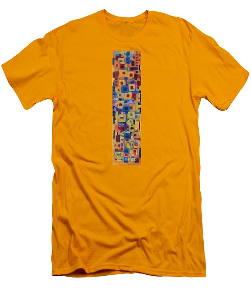 Men's T-Shirt (Slim Fit) featuring the painting My Jazz N Blues 1 by Holly Carmichael