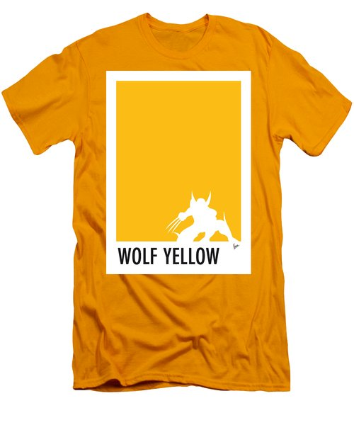 My Superhero 05 Wolf Yellow Minimal Poster Men's T-Shirt (Slim Fit) by Chungkong Art