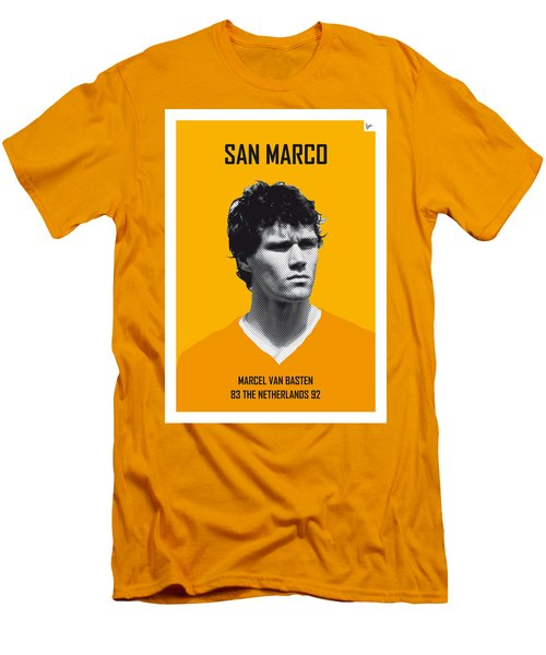 My Van Basten Soccer Legend Poster Men's T-Shirt (Slim Fit) by Chungkong Art