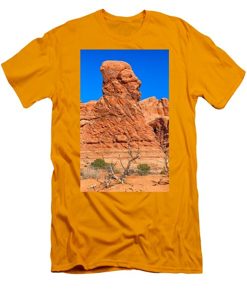 Men's T-Shirt (Slim Fit) featuring the photograph Natural Sculpture by John M Bailey