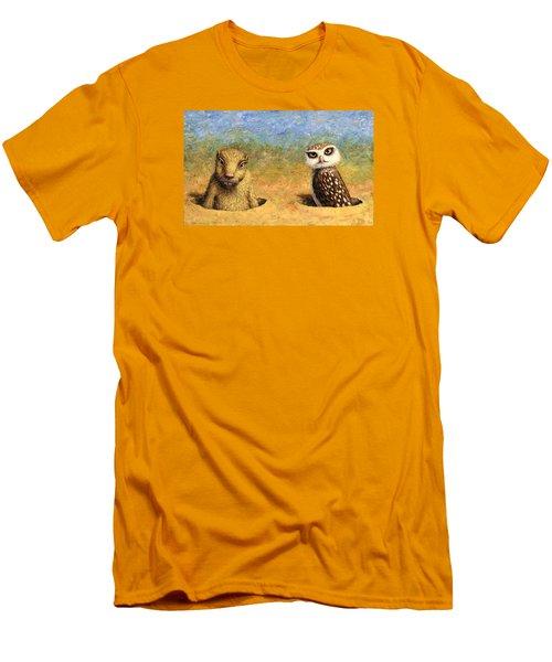 Neighbors Men's T-Shirt (Slim Fit) by James W Johnson