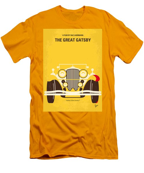 No206 My The Great Gatsby Minimal Movie Poster Men's T-Shirt (Slim Fit) by Chungkong Art