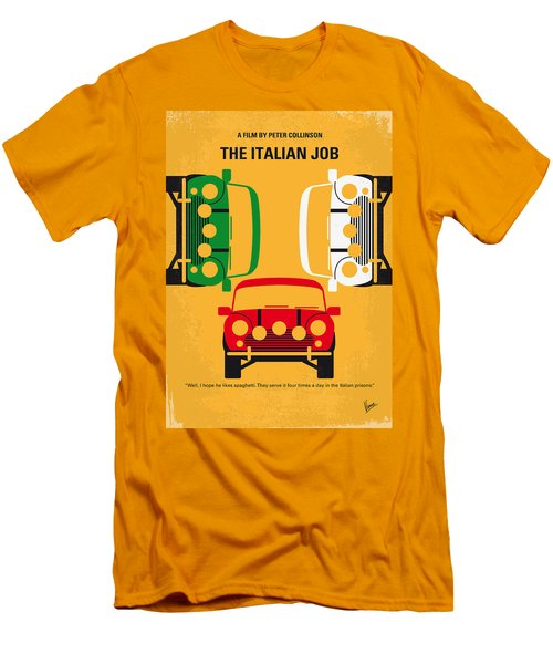 No279 My The Italian Job Minimal Movie Poster Men's T-Shirt (Slim Fit) by Chungkong Art