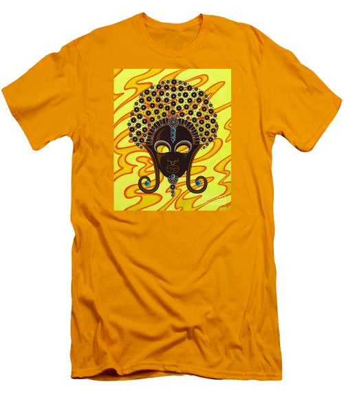 Nubian Modern Afro Mask Men's T-Shirt (Athletic Fit)