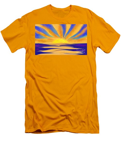 Ocean Sunrise Men's T-Shirt (Slim Fit) by Anita Lewis