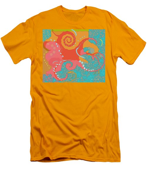Octopus 1 Men's T-Shirt (Slim Fit) by David Klaboe