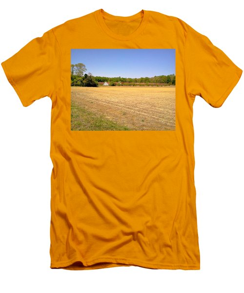 Men's T-Shirt (Slim Fit) featuring the photograph Old Chicken Houses by Amazing Photographs AKA Christian Wilson