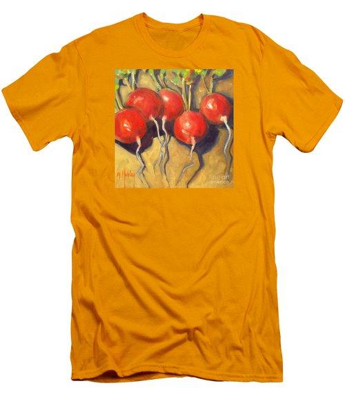Organic Radishes Still Life Men's T-Shirt (Slim Fit) by Mary Hubley