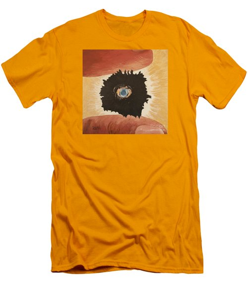 Men's T-Shirt (Slim Fit) featuring the painting Outside Time by Mark Robbins