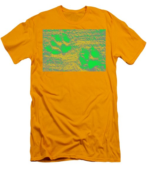 Paw Prints In Yellow And Lime Men's T-Shirt (Athletic Fit)
