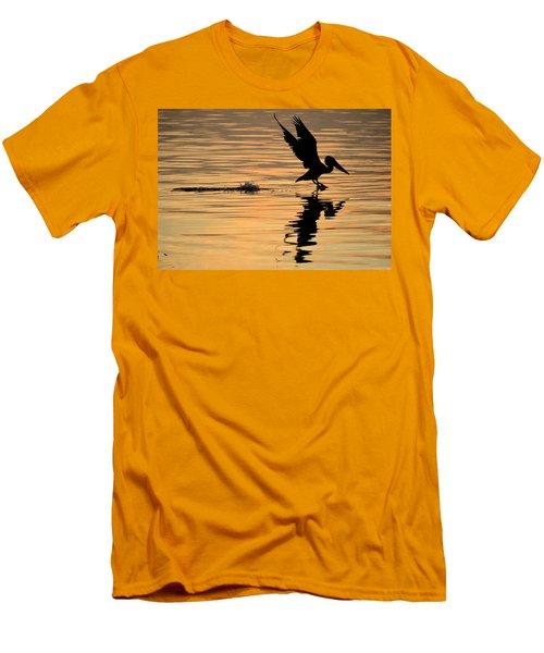 Pelican At Sunrise Men's T-Shirt (Slim Fit) by Leticia Latocki