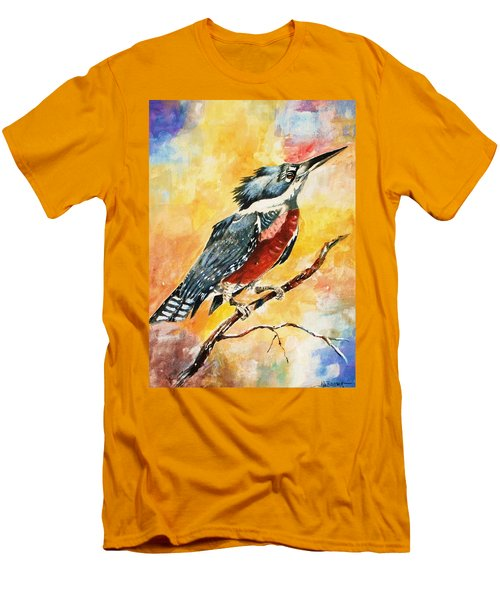 Perched Kingfisher Men's T-Shirt (Slim Fit) by Al Brown