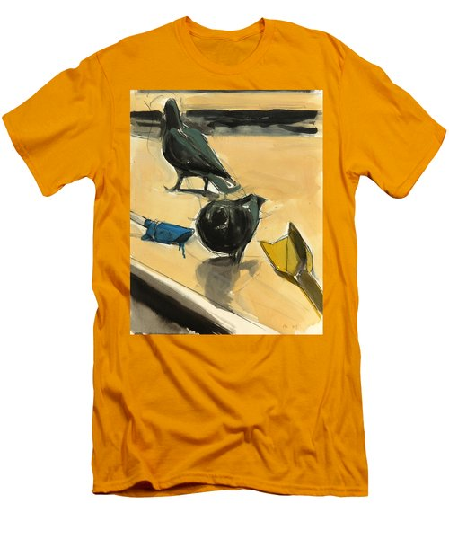 Pigeons Men's T-Shirt (Slim Fit) by Daniel Clarke
