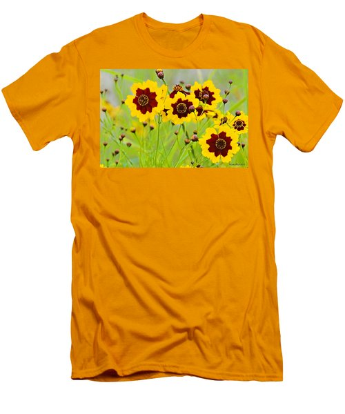 Plains Coreopsis Men's T-Shirt (Slim Fit) by Walter Herrit
