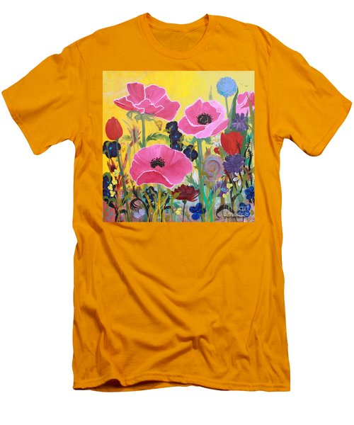 Poppies And Time Traveler Men's T-Shirt (Athletic Fit)