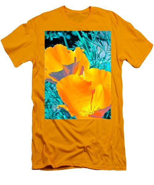 Men's T-Shirt (Slim Fit) featuring the photograph Poppy 4 by Pamela Cooper