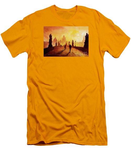 Prague Sunrise Men's T-Shirt (Slim Fit) by Ryan Fox