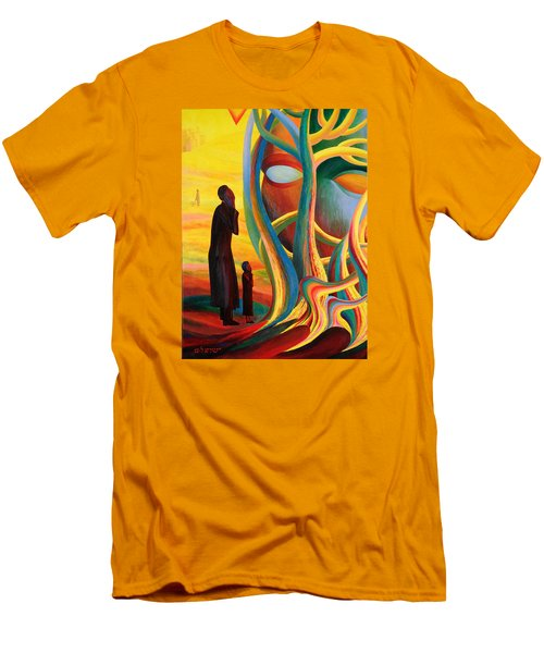 Prayers At The Tree Of Life Men's T-Shirt (Athletic Fit)