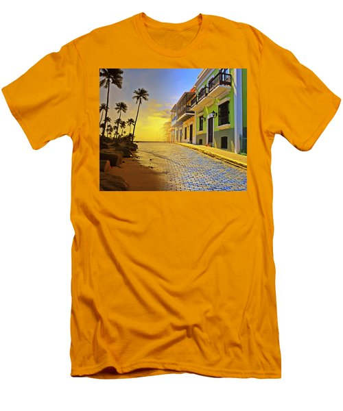 Puerto Rico Collage 2 Men's T-Shirt (Slim Fit) by Stephen Anderson