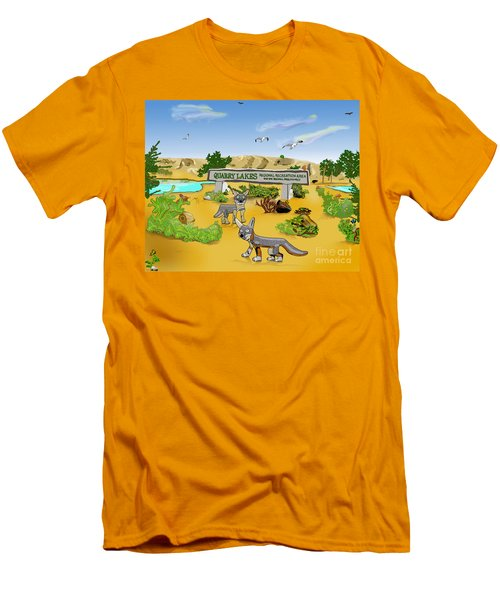 Quarry Lakes And Gray Foxes Men's T-Shirt (Athletic Fit)