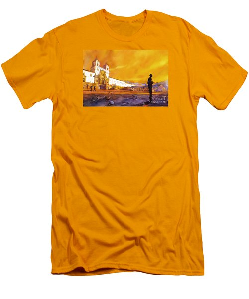 Quito Sunrise Men's T-Shirt (Athletic Fit)