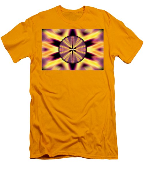 Men's T-Shirt (Slim Fit) featuring the drawing Rainbow Seed Of Life by Derek Gedney