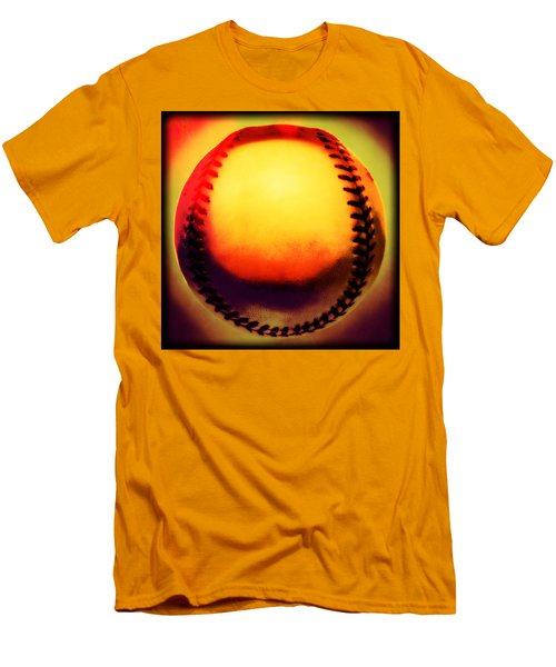 Red Hot Baseball Men's T-Shirt (Athletic Fit)
