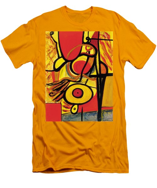 Men's T-Shirt (Slim Fit) featuring the painting Relativity 2 by Stephen Lucas