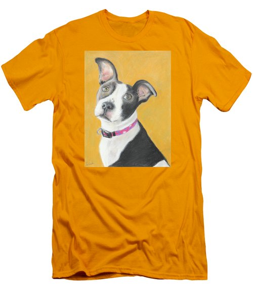 Rescued Pit Bull Men's T-Shirt (Slim Fit) by Jeanne Fischer