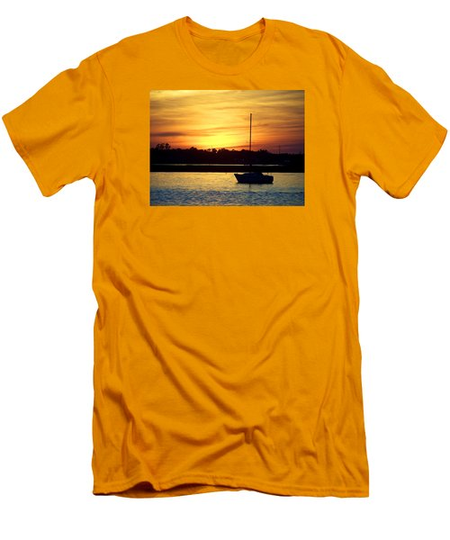 Men's T-Shirt (Slim Fit) featuring the photograph Resting In A Mango Sunset by Sandi OReilly