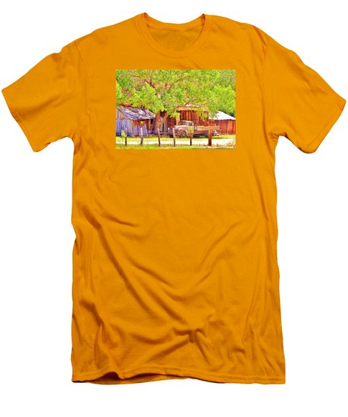 Men's T-Shirt (Slim Fit) featuring the photograph Retired by Marilyn Diaz