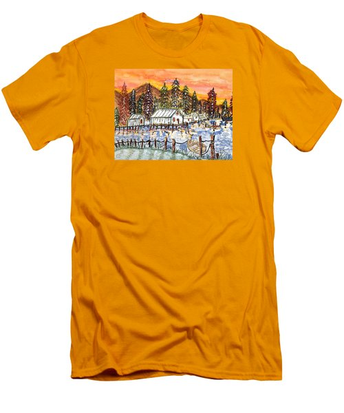 Road To The Oregon Coast Men's T-Shirt (Slim Fit) by Connie Valasco