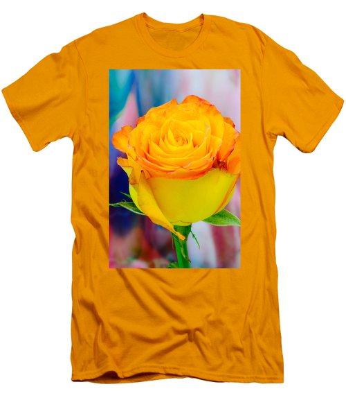 Yellow Rose Macro Men's T-Shirt (Athletic Fit)