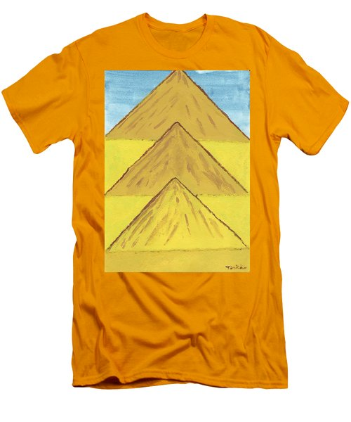 Men's T-Shirt (Slim Fit) featuring the painting Sand Mountains by Tracey Williams