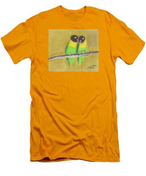 Sleeping Love Birds Men's T-Shirt (Slim Fit) by David Jackson