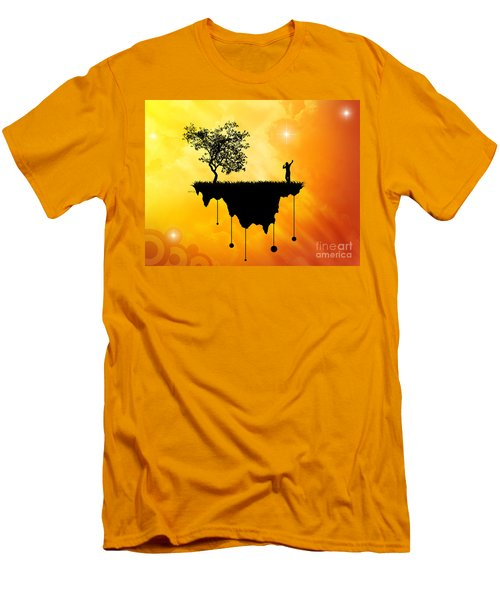 Men's T-Shirt (Slim Fit) featuring the digital art Slice Of Earth by Phil Perkins