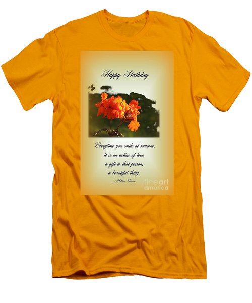 Smile Men's T-Shirt (Slim Fit) by Leone Lund