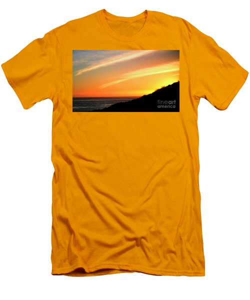 Men's T-Shirt (Athletic Fit) featuring the photograph Socal Coastal Sunset by Clayton Bruster