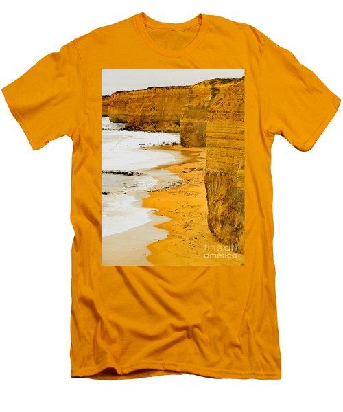 Southern Ocean Cliffs Men's T-Shirt (Athletic Fit)
