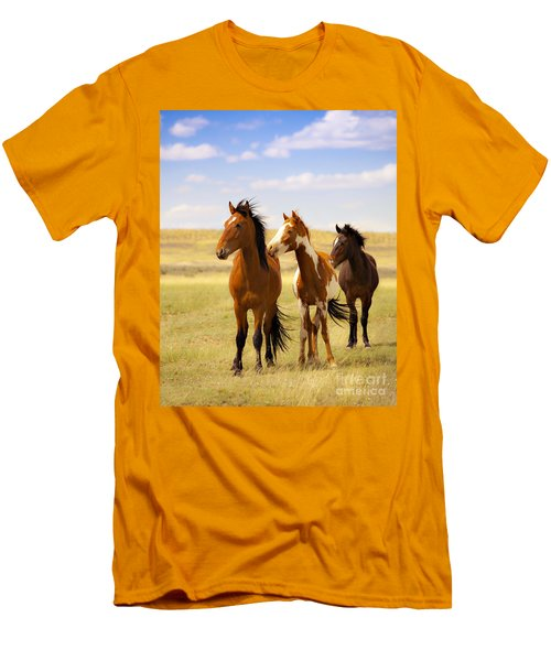 Southwest Wild Horses On Navajo Indian Reservation Men's T-Shirt (Athletic Fit)